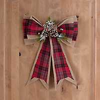 Plaid Fabric Christmas Bow