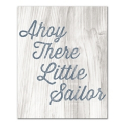 Ahoy There Little Sailor Canvas Art Print