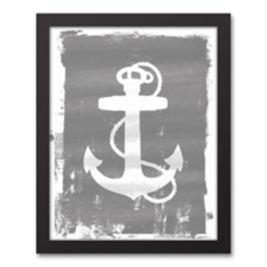 Anchor Silhouette Framed Art Print