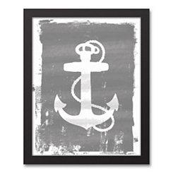 Anchor Silhouette Framed Art Print