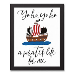 A Pirate's Life For Me Framed Art Print