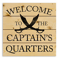 Welcome to Captain's Quarters Wood Pallet Print