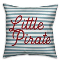 Little Pirate Stripe Pillow
