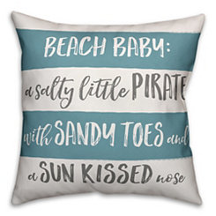 Beach Baby Stripe Pillow