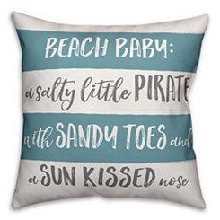 Beach Baby Stripe Pillow