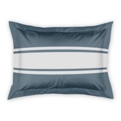 Slate and White Stripe Standard Sham