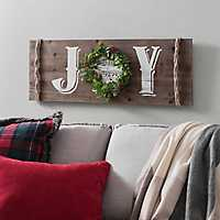 Joy Wreath and Music Note Plaque