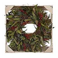 Dried Eucalyptus Leaf and Berry Wreath