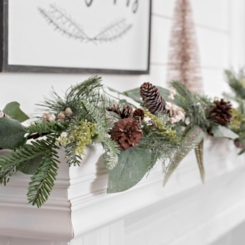 Eucalyptus Sparkle Christmas Garland