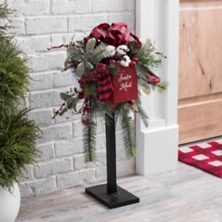 Decorative Christmas Mailbox with Ribbon Greenery