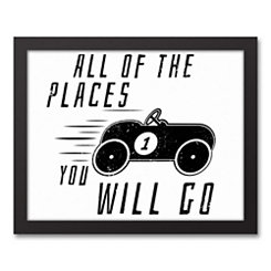 All of the Places You Will Go Framed Art Print