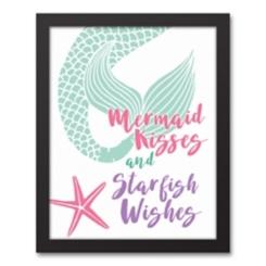Mermaid Kisses Starfish Wishes Framed Art Print