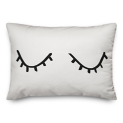 Hello Gorgeous Lashes Reversible Pillow