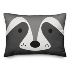 Lil Bandit Black and White Reversible Pillow