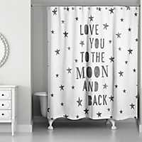 Love You To The Moon Shower Curtain
