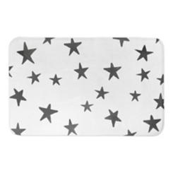 Gray Watercolor Stars Bath Mat