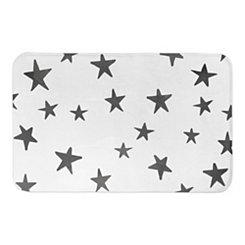 Gray Watercolor Stars Bath Mat