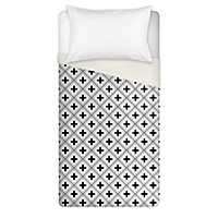 Swiss Criss Cross White Twin Duvet