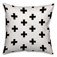Swiss Criss Cross Black and White Pillow