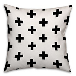 Swiss Criss Cross Black and White Pillow