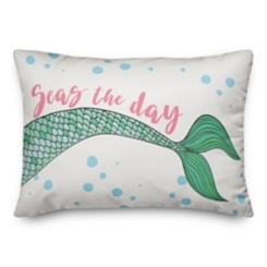 Seas the Day Mermaid Double-Sided Pillow