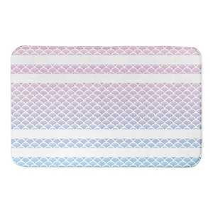 Watercolor Scale Stripe Bath Mat