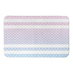 Watercolor Scale Stripe Bath Mat