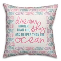 Dream Deeper Than The Ocean Fish Pillow
