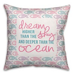 Dream Deeper Than The Ocean Fish Pillow