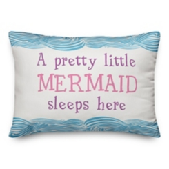 Little Mermaid Sleeps Here Double-Sided Pillow