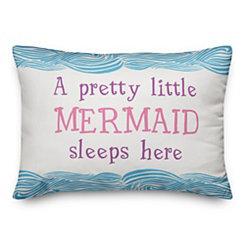 Little Mermaid Sleeps Here Double-Sided Pillow