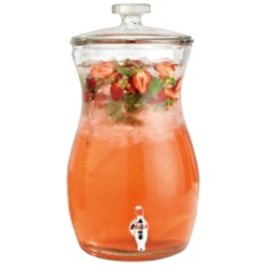 Curved Hourglass Beverage Dispenser