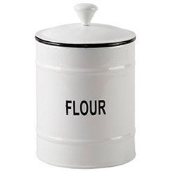 White Flour Enamel Canister