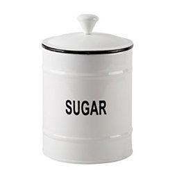White Sugar Enamel Canister