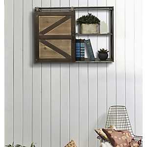 Sliding Barn Door Wall Cabinet
