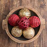 Red and Gold Orb Christmas Filler