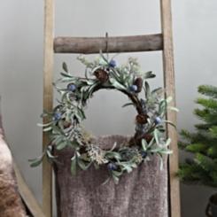 Blueberry Pine Cone Mini Wreath