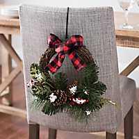 Buffalo Check and Pine Mini Wreath