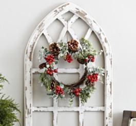 Red Berry Pine Mini Wreath