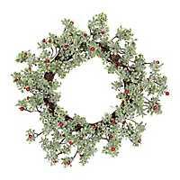 Mistletoe Berry Shimmer Christmas Wreath
