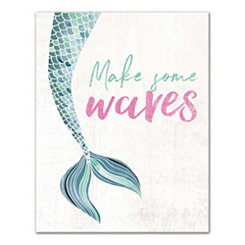 Make Some Waves Mermaid Canvas Art Print