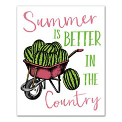 Summer is Better in the Country Canvas Art Print