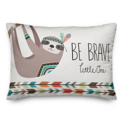 Be Brave Sloth Pillow