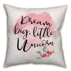 Dream Big Unicorn Pillow