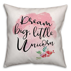 Dream Big Unicorn Pillow