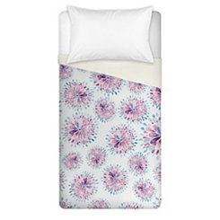 Watercolor Medallion Floral Twin Duvet