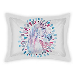 Watercolor Unicorn Standard Sham