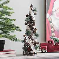 Twig, Birch, and Pine Cone Christmas Tree, 20 in.