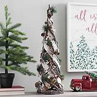 Twig, Birch, and Pine Cone Christmas Tree, 27 in.