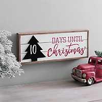 Days Til Christmas Wall Plaque